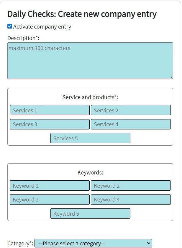 Daily Checks Self-Service-Platform Screenshot